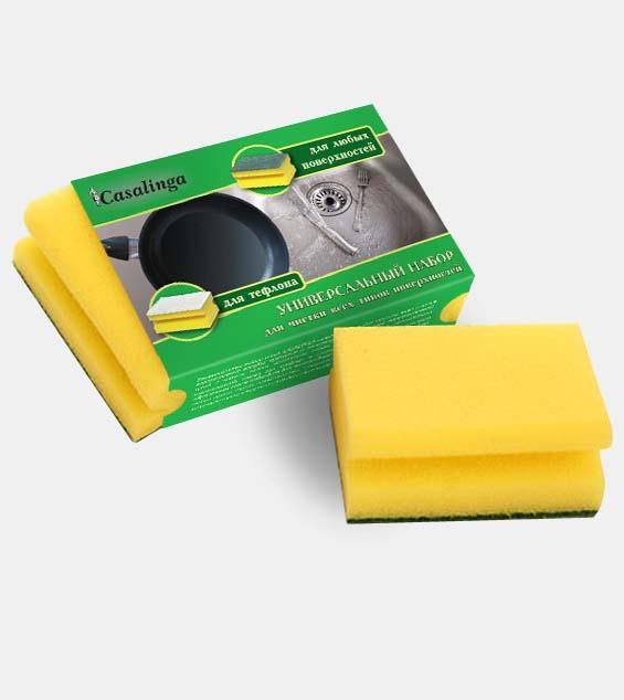 Casalinga Универсальный набор губок для чистки всех типов поверхностей Х-155