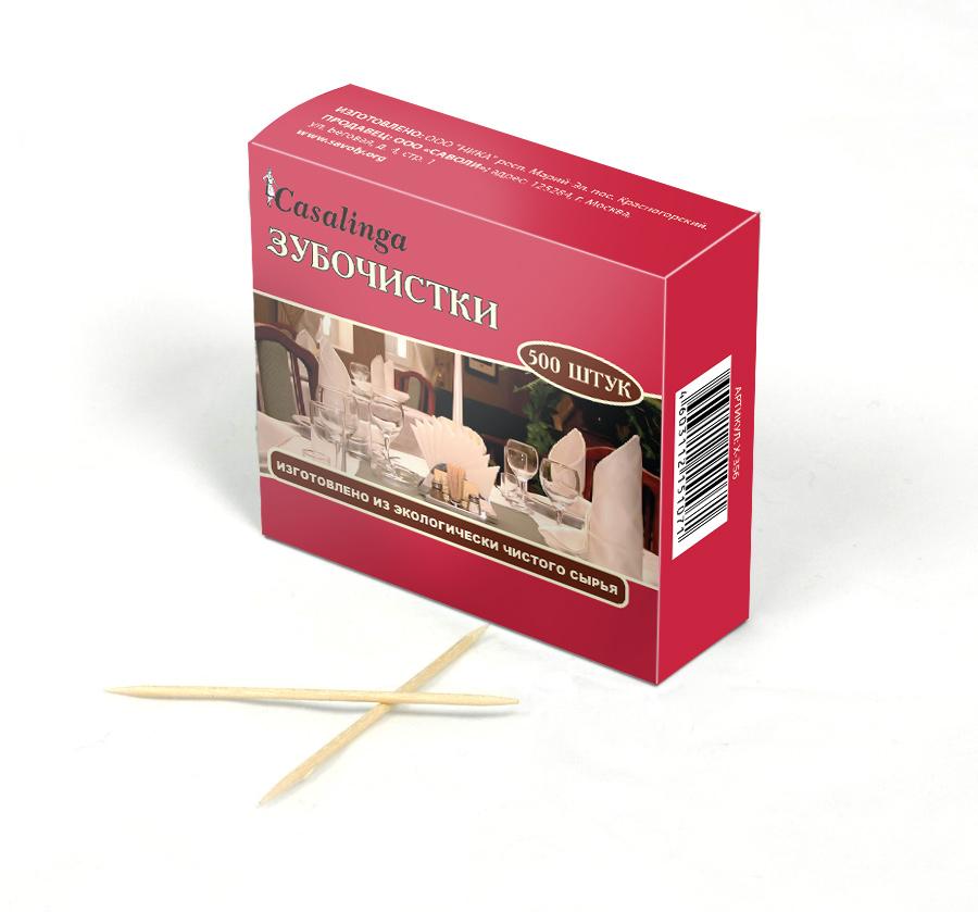Casalinga Зубочистки, 500 шт. в коробке Х-356