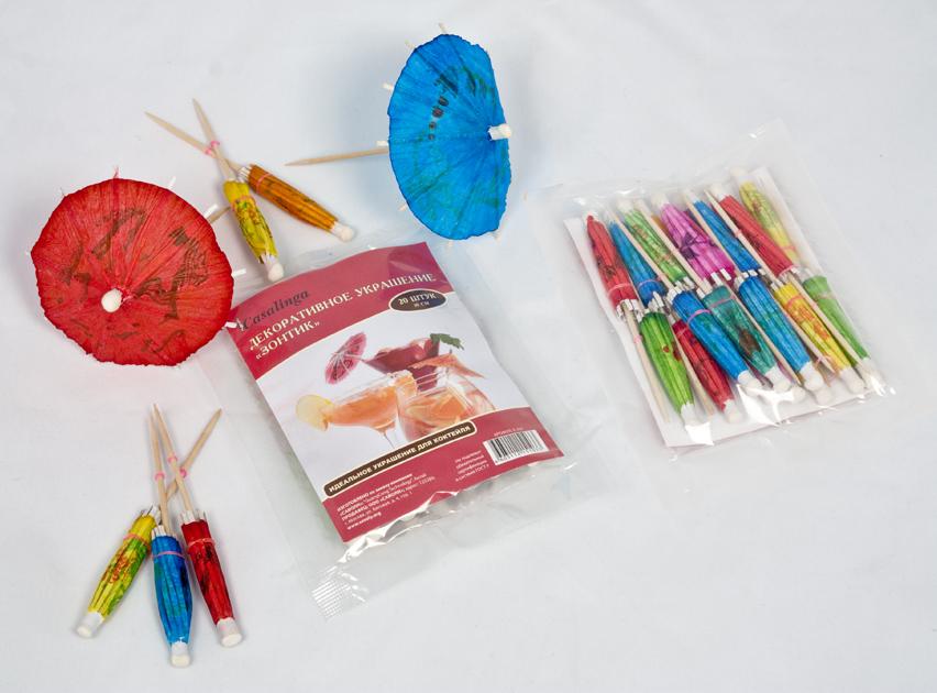 Casalinga Зонтик для коктейля, цветной Х-352