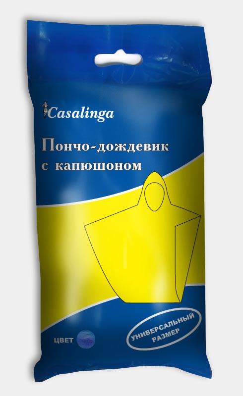 Casalinga Пончо-дождевик с капюшоном, универсальный размер, полиэтиленовый Х-150