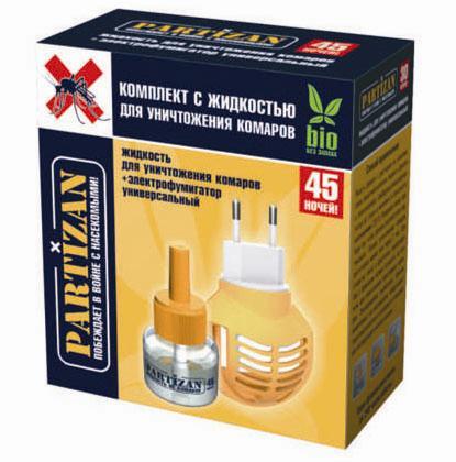 PARTIZAN Комплект с жидкостью для уничтожения комаров 45 ночей