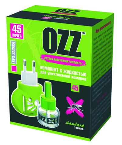 OZZ Комплект с жидкостью для уничтожения комаров 45 ночей