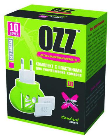 OZZ Комплект с пластинами для уничтожения комаров 10 ночей