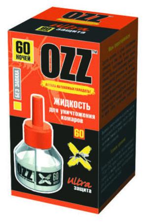 OZZ Жидкость для уничтожения комаров 60 ночей