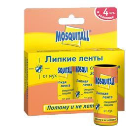 Москитол Липкая лента «Специальная защита» от мух, 4 шт. в упаковке