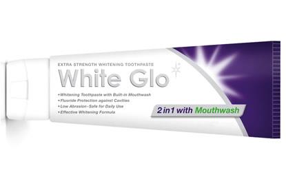 White Glo Зубная паста ОТБЕДИВАЮЩАЯ с ополаскивателем и с зубной щеткой