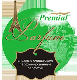 Premial Влажные салфетки очищающие парфюмированные