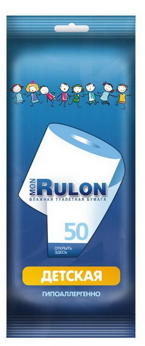 Авангард Влажная туалетная бумага «Mon Rulon» 50 детская