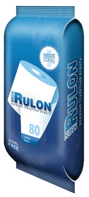 Авангард Влажная туалетная бумага Mon Rulon 80