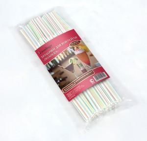 Casalinga Трубочка для коктейля «ПОЛОСКА», полосатая с изгибом, цветная Х-349 купить