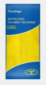Casalinga Перчатки резиновые (латекс), размерный микс Х-200 купить