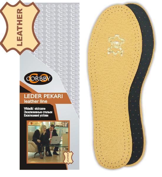 Летние стельки Corbby Эксклюзивные стельки LEDER PEKARI для модельной обуви купить