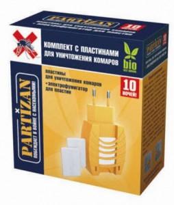 PARTIZAN Комплект с пластинами для уничтожения комаров 10 ночей купить