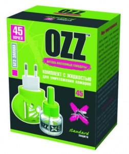 OZZ Комплект с жидкостью для уничтожения комаров 45 ночей купить