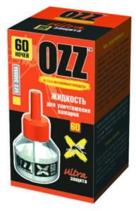OZZ Жидкость для уничтожения комаров 60 ночей купить