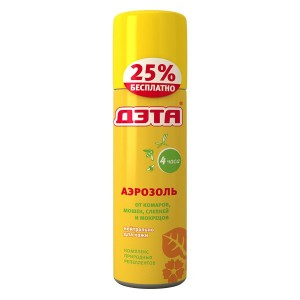 ДЭТА Аэрозоль от комаров, мошек, слепней и мокрецов купить