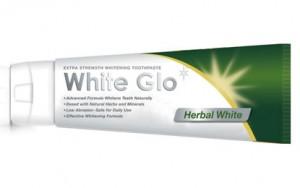 White Glo Зубная паста отбеливающая, травяная, с зубной щеткой купить