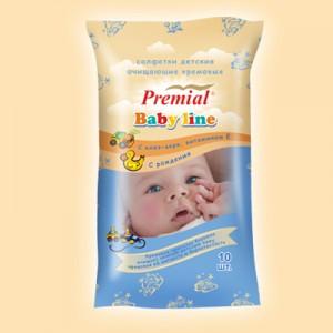 Влажные салфетки для детской гигиены Premial Салфетки кремовые для детской гигиены купить