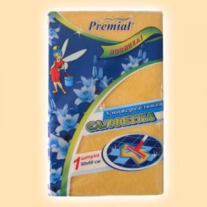 Вискозные салфетки Premial «Premial»Салфетка для пола вискозная оранжевая 50х60 см купить