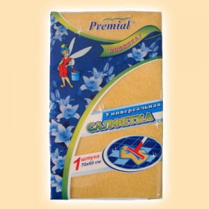 Вискозные салфетки Premial «Premial» Салфетка для пола вискозная оранжевая 70х60 см купить