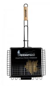 Лесничий Решётка для гриля и барбекю ГЛУБОКАЯ с антипригарным покрытием купить