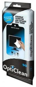 Opti Clean Авангард Влажные салфетки для экранов всех типов Opti Clean купить