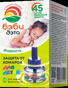 БЭБИ ДЭТА ДЭТА Детская жидкость откомаров 45ночей купить
