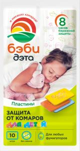 БЭБИ ДЭТА ДЭТА Детские пластины от комаров купить