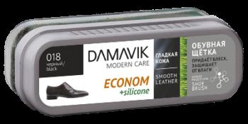 Губки DAMAVIK Обувная щетка «DAMAVIK» эконом с силиконом для ухода за изделиями из гладкой кожи купить