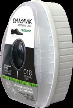 Губки DAMAVIK Обувная щетка «DAMAVIK» с дозатором силикона для ухода за изделиями из гладкой кожи купить