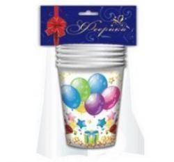 Праздничная продукция Феерика Стаканы бумажные Воздушные шары, 200мл/30, Ф-593 купить