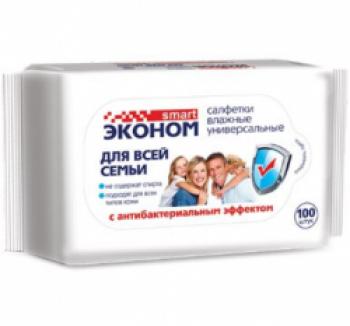 Авангард Эконом smart №100 влажные салфетки для всей семьи антибактериальные, 30258 купить