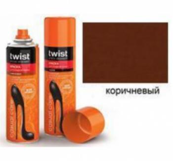 Аэрозоли Twist Twist Fashion Care Краска-аэрозоль для кожи коричневая 250мл. купить