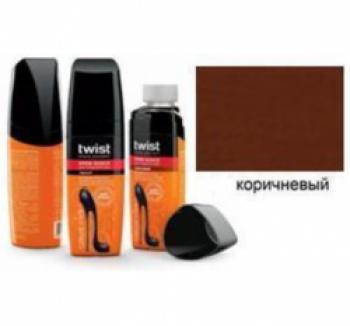 Twist Fashion Care Блеск для гладкой кожи коричневый в флаконе с губкой 75мл. купить