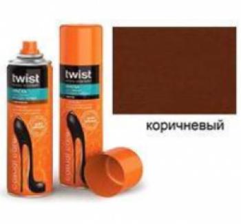 Аэрозоли Twist Twist Fashion Care Краска-аэрозоль для замши коричневая 250мл. купить