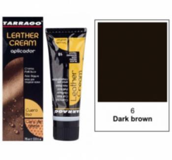 Уход за гладкой кожей TARRAGO Крем тюбик с губкой Leather cream, большой, темно-коричневый, 006, 75 мл. купить
