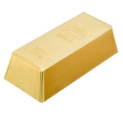 Коврики для ванной Стопор для дверей Золотой слиток 16,5х8х4,5см, пластик  VORTEX 12/4, 26018 купить